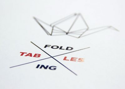 Folding Tables – Buchgestaltung